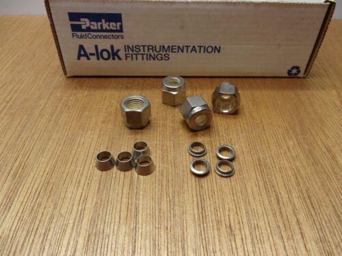 Each Parker 4NU4 Nut 4FF4 Front 4BF4 Back Ferrule 316 Stainless Steel USA 4