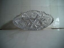"""ARTCUT Vintage Glass Bowl 7.5 Inches Across 2"""" Tall 4"""" Wide SWIRL PATTERN"""