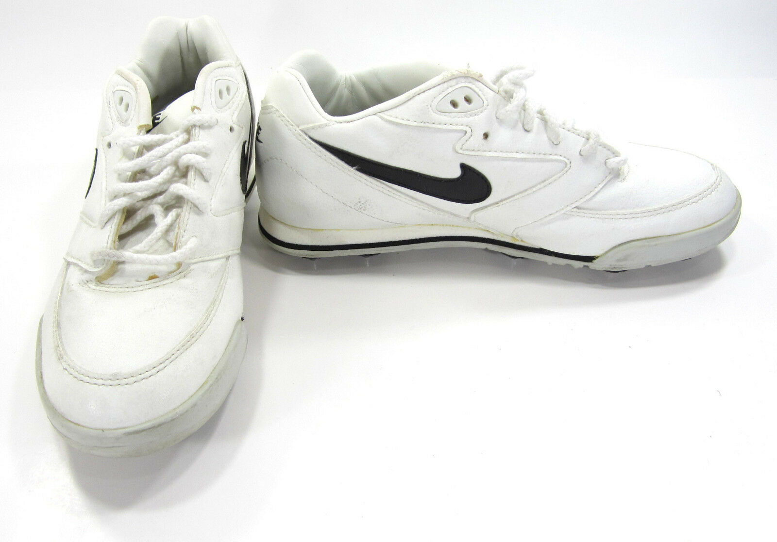 Nike Shoes Cleats Low Leather Athletic White/Black Sneakers Size 6.5 Eur 39