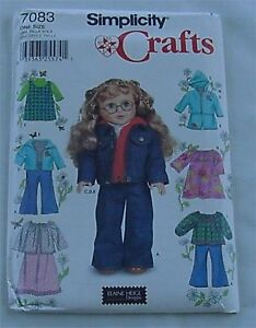 Simplicity Crafts 18 Inch Doll Clothes Pattern   7083  UnCut
