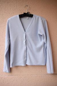 Hellblaue-Strickjacke-Cardigan-von-Trend-Collection-Groesse-34