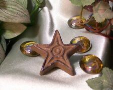 Set Of 12 Cast Iron Rust Star Drawer Pulls, Cabinet Knobs