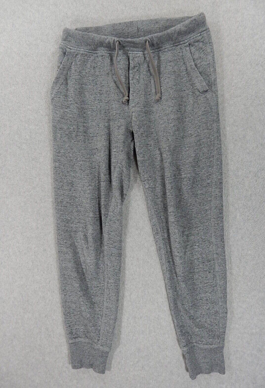 J Crew Knit Goods 100% Cotton Jogger Sweatpants (Womens Medium) Gray