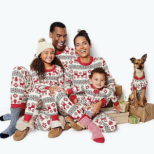 Xmas Kids Adult Family Matching Christmas Pajamas Sleepwear ...