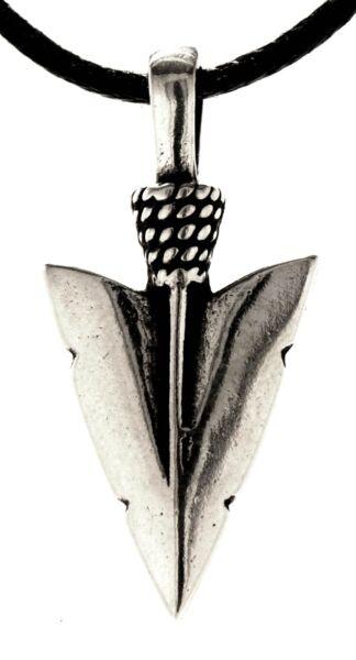 Anhänger Pfeilspitze Aus 925 Sterling Silber Pfeil Spitze Wikinger 357 Reine WeißE