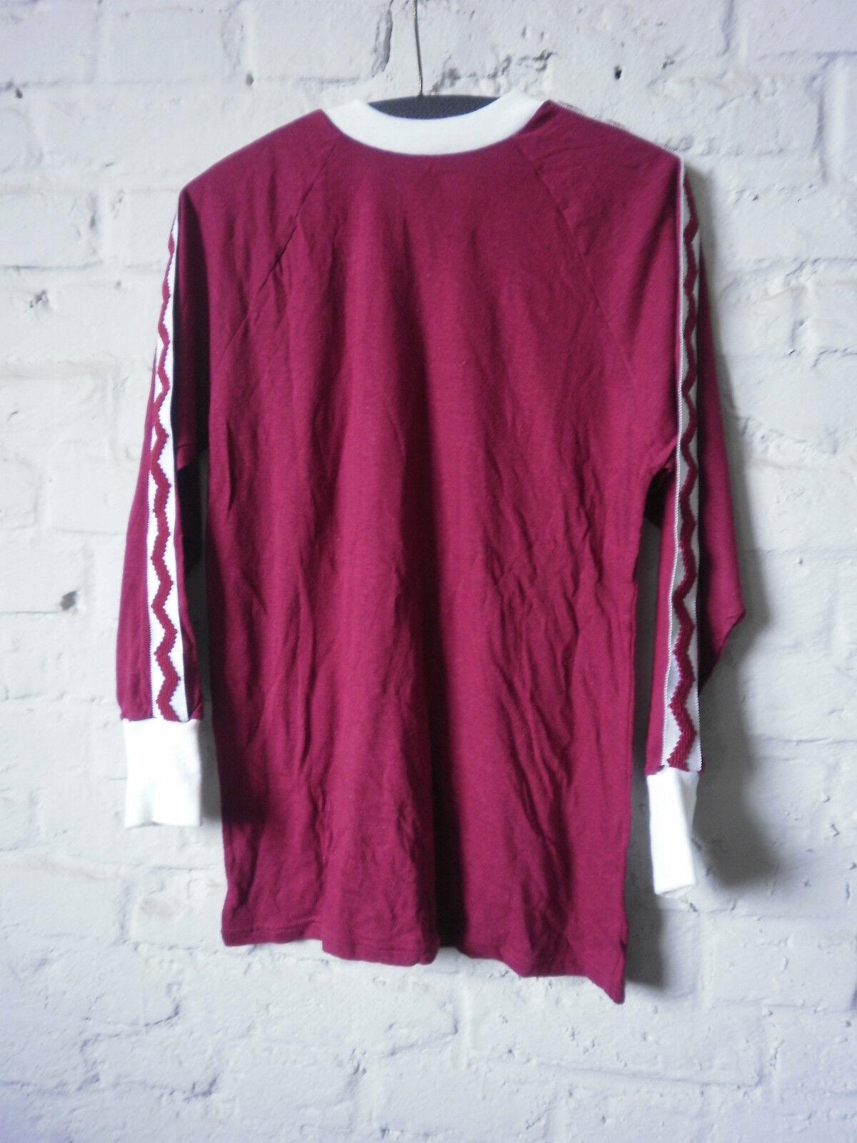 True vintage veb cristal made herrenspielerhemd maillot d5 shirt made cristal in GDR 80s nos dae162