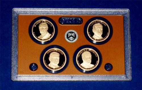 2014 S Presidential Dollar Proof Set-Four Coins-No Box//COA