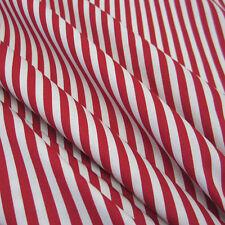 Stoff Meterware Baumwolle Streifen gestreift rot weiß Popeline 5 mm