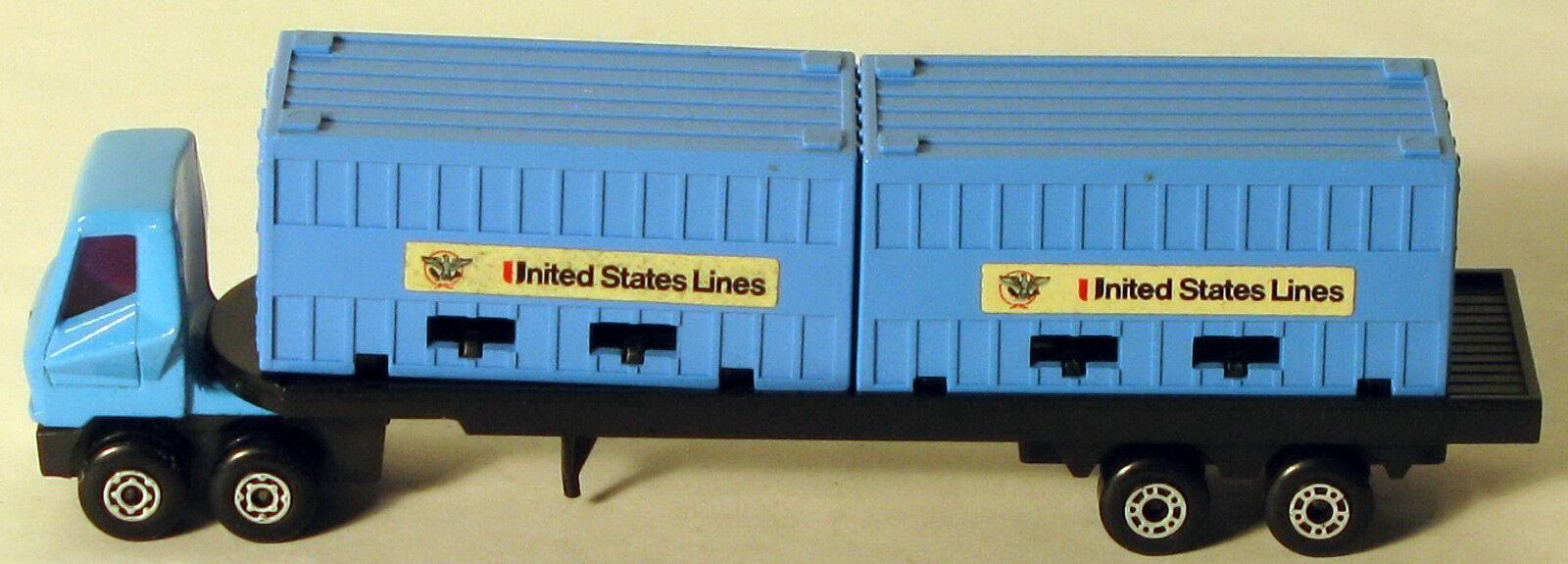 marcas en línea venta barata DTE Lesney Matchbox Convoy PS-1 PS-1 PS-1 rara Azul líneas de EE. UU. camión contenedor de doble  Envio gratis en todas las ordenes