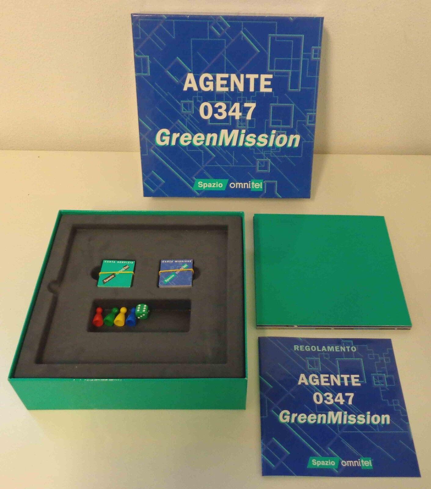 Gioco in Scatola Vintage Board Game Italiano AGENTE 0347 GrünMISSION Omnitel It