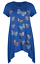 Plus-Size-Ladies-Short-Sleeve-Butterfly-Print-Dip-Hanky-Hem-Casual-T-Shirt-Top thumbnail 14