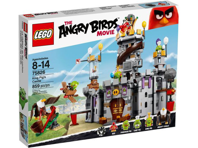Lego 75826, The Angry Birds Movie, King Pig Castle, 2009, neuf, 5 minifig