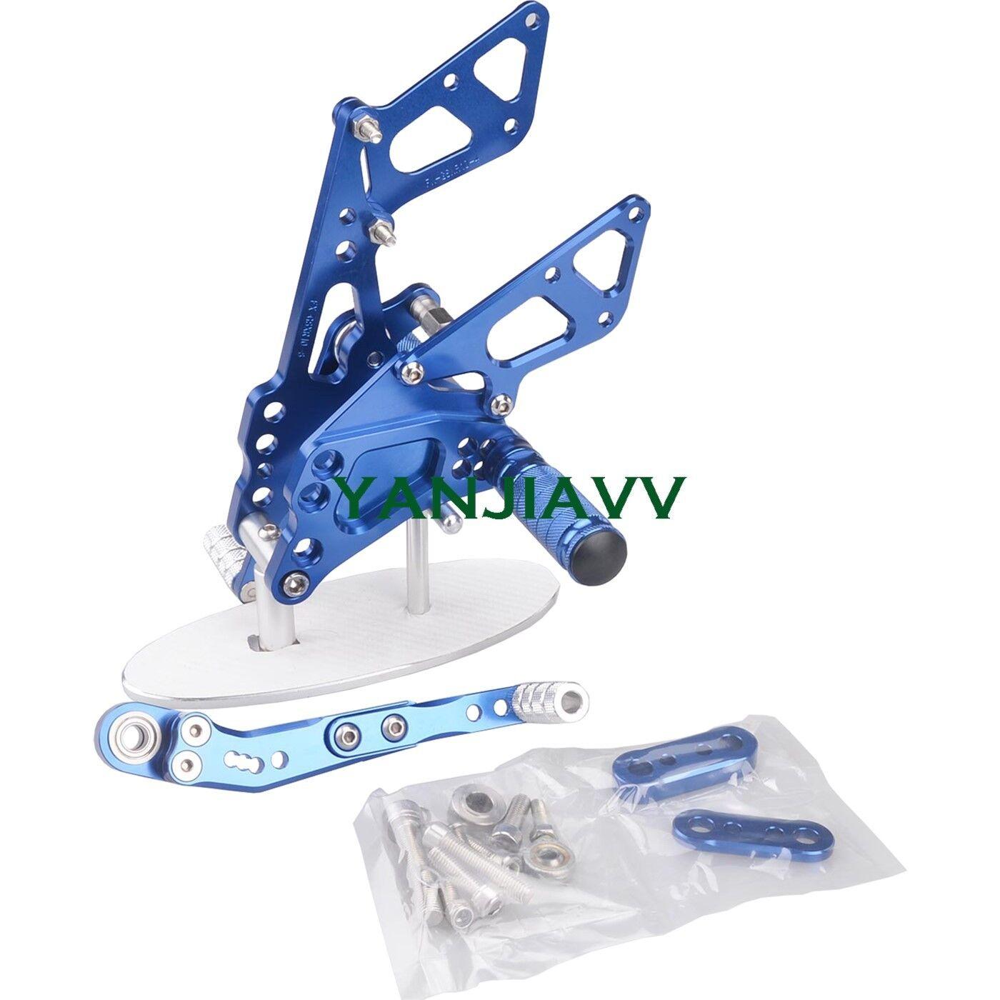 blu CNC Rearset Footpegs Rear Set For SUZUKI GSXR1000 GSXR 1000 K9 20092016