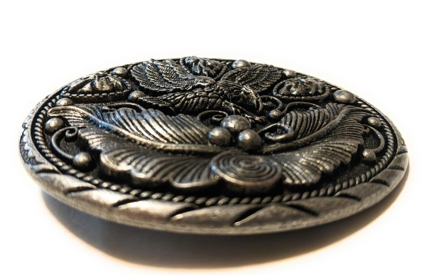 ✖ EAGLE SOARING Belt buckle Pewter color beauty solid USA mens 3.5 inch Hunter