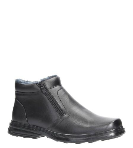Hommes Bottes Fermeture Éclair Faux Fur à la Mode Hiver Chaussures Plates Taille 40-46 Neuf