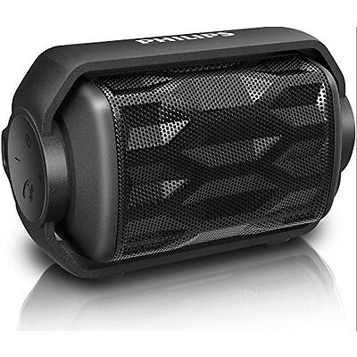 Philips Shoqbox Mini Bluetooth Wireless Rugged Speaker Water Resistant with Mic