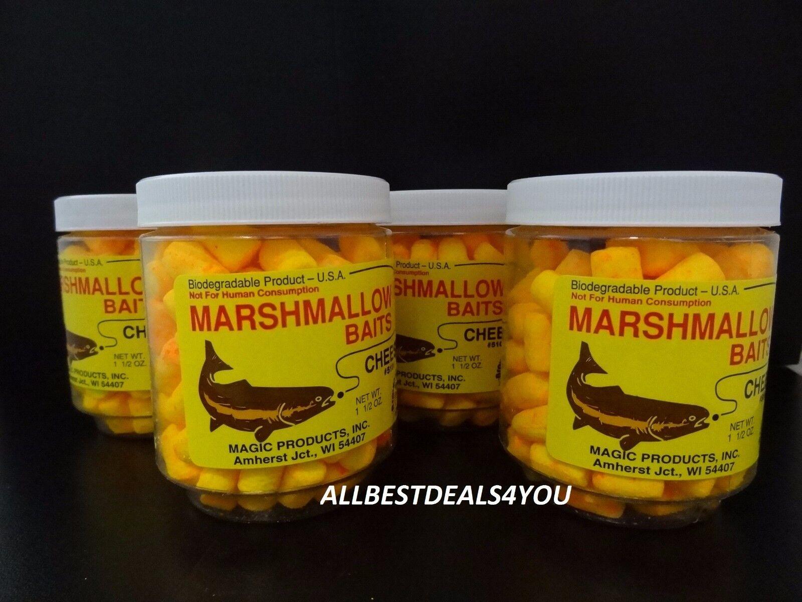12 Each  Magic Products  Mini Mallow-Cheese Marshmallow Fishing Prepared Baits  reasonable price