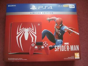 Marvel-Comics-PlayStation-4-PS4-Slim-LTD-ED-Spiderman-1TB-Rosso-Console-Bundle