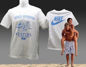 VINTAGE-NIKE-NSW-Surf-cosas-To-Do-Serie-Camiseta-de-algodon-pequeno