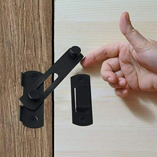 Details about  /Black Flip Latch Gate Latches Stainless Steel Sliding Safety Door Bolt Lock For