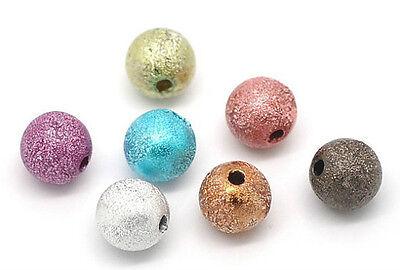 20 PERLE STARDUST 8mm Mixte Creation Bijoux bracelet Multicolore 8 mm