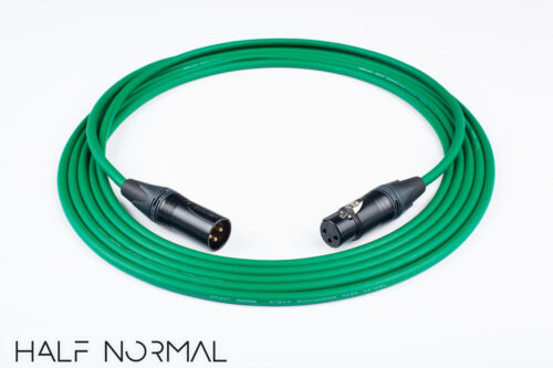 12/' Mogami 2534 Quad Balanced Cable Neutrik Gold XLR Male to XLR Female Green
