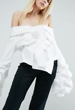 Off Shoulder Wrap Shirt   (T5)RRP £55.00 UK6 -White