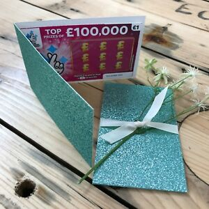 Aqua-Glitter-Wedding-Scratch-Card-Holder-Lottery-Ticket-Wallet