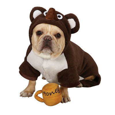 Dog Bear Dress Up Costume  S  XL - Pet Puppy Clothes Coat Outfit Party Small