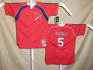 buy popular 8f6a7 aa5d7 Details about ALBERT PUJOLS St. Louis Cardinals NIKE JERSEY Youth Large NWT  with N.L. logo