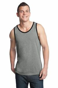 District-Men-039-s-Casual-100-Cotton-New-Sleeveless-Ringer-Tank-Top-DT1500