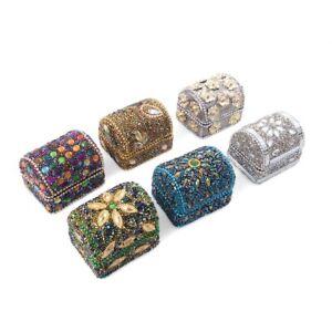Handcrafted Set Of 6 Mini Multi Color Bead Treasure Chest Organizer Box Storage