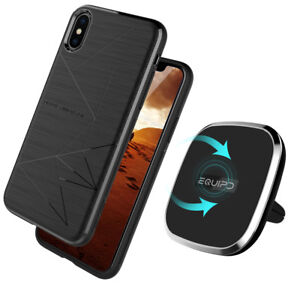 Qi-Wireless-Charging-Pad-360-Rotation-Car-Mount-Air-Vent-Holder-Magnetic-Case