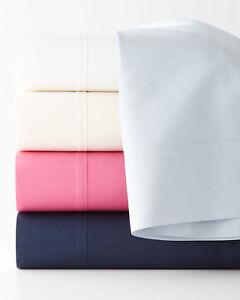 RALPH-LAUREN-Palmer-RL-464-TC-Cotton-Percale-QUEEN-Flat-Sheet-Tuxedo-White-115B