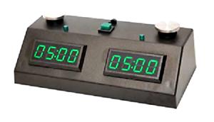 ZMF-II Reloj de ajedrez-Negro Con LED verde, Nuevo