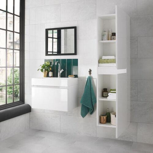 Mino 400 Gloss White Tall Wall Hung Unit GenuineRRP £299