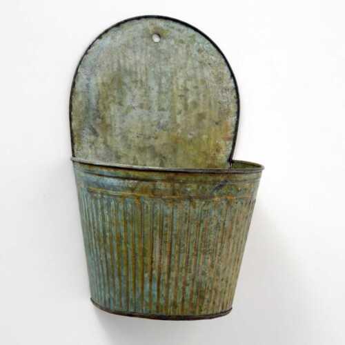 FIORI VASO MURO semaforo Luis 31,5 cm ZINCO VASO SHABBY VINTAGE GIARDINO BALCONE