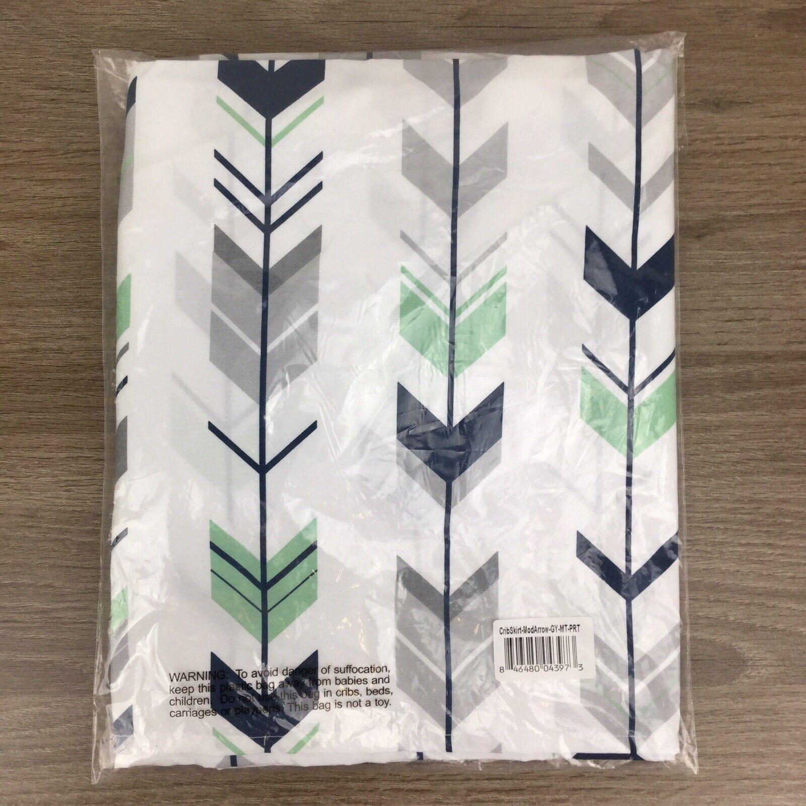 Sweet Jojo Designs Navy Blue Crib Bed Skirt for/Baby Bedding Sets