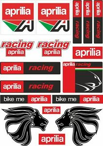 Aprilia Motorcycle Decals Stickers Bike Factory Graphic ...