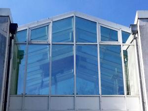 Glas-Fassade-6x3-5m-Wintergarten-el-Kippfenster-Infrastop-Alarmanlage