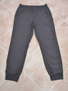 Gap-BNWOT-Unisex-Black-Cotton-Cuffed-Pull-On-Trousers-size-Med-Short