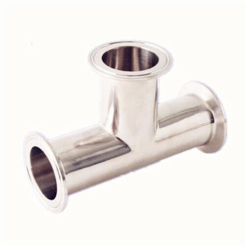 "1.5/"" 38mm standard Sanitary stainless steel Tri-Clamp tee Connector Ferrule 1.5/"""