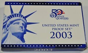 2003-S-Proof-Set-United-States-US-Mint-COA-10-Coin-Set-Free-Shipping