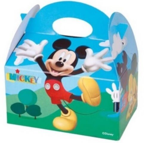 DISNEY MICKEY MOUSE Childrens  Birthday Food Favour Loot Party Carry Box