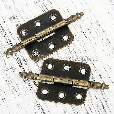 Useful Antique Bronze Door Hinges Cabinet Drawer Cupboard Wood Box Butt Hinges