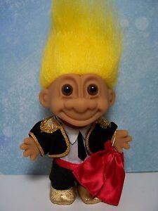"5/"" Russ Troll Doll NEW IN ORIGINAL WRAPPER FISHERMAN Yellow Hair"
