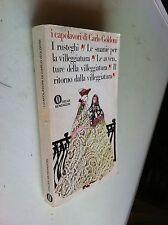 oscar mondadori i capolavori di carlo goldoni  1^ ristampa 1978