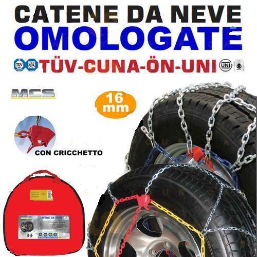 CATENE NEVE 235//60-18 MELCHIONI 16MM FURGONI COMMERCIALI CAMPER SUV CF1641