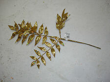 Christmas Picks Floral 11 pc Gold Wholesale Bulk Crafts Decorations Flowers #7