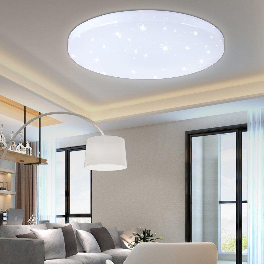 LED DECKENLEUCHTE DECKENLAMPE Dimmbar Wohnzimmer Lampe Küche ...